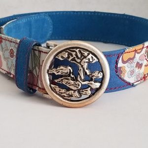 Lucky Brand Multicolored Patchwork Belt - S